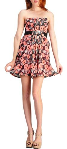 Tcec Women's Floral Strapless Dress