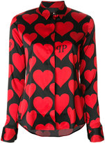 Philipp Plein heart motif shirt