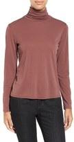 Eileen Fisher Scrunch Neck Silk Top (Online Exclusive)