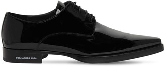 DSQUARED2 Pointy Patent Leather Lace-Up Shoes
