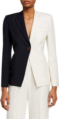 PARTOW Easton Two-Tone Blazer Jacket