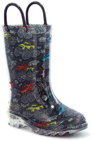 Western Chief Charcoal Monster Truck Light-Up Rain Boot