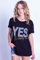 Local Celebrity Yes, It's Really Me Schiffer Tee in Black