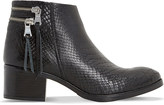 Dune Pipinn snake-embossed leather ankle boots