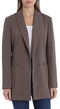 Bagatelle Plaid Shawl-Collar Blazer