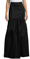 Temperley London Anchor Cotton Dropped Waist Skirt