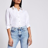 River Island Womens White embellished collar long sleeve shirt