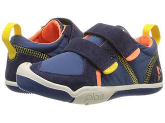 Plae Ty (Toddler/Little Kid) (Navy/Limestone) Boy's Shoes