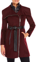 BCBGeneration Quilted Bib Wool-Blend Coat