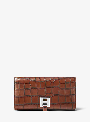 Michael Kors Bancroft Crocodile-Embossed Leather Continental Wallet