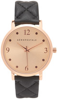 Quilted Faux Leather Analog Watch