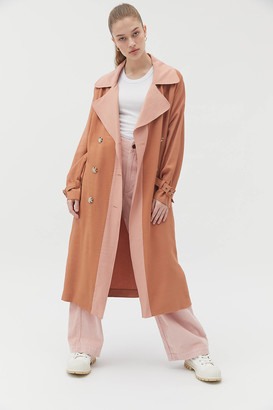 NATIVE YOUTH Phelps Colorblock Trench Coat