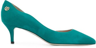 Pollini Cut-Out Suede Pumps