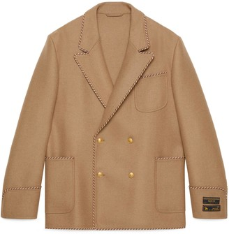 Gucci Camel jacket with sartorial labels