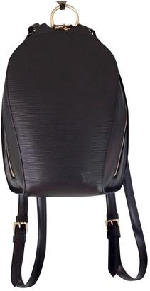 Louis Vuitton Mabillon Black Leather Backpacks