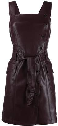 Nanushka Charo vegan leather pinafore dress