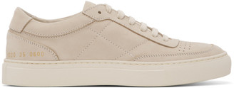 Common Projects Beige Nubuck Classic Resort Sneakers