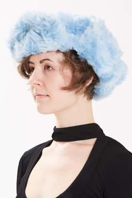 Maison Atia Trapper Hat - Faux Fur Blue