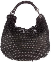 Jimmy Choo Studded Solar Hobo