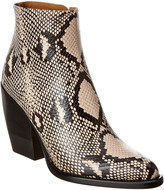 Chloé Rylee Python-Embossed Leather Bootie