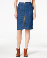 Style&Co. Style & Co. Zip-Front Denim Skirt, Only at Macy's