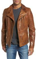 Schott NYC Men's Asymmetrical Waxy Leather Jacket
