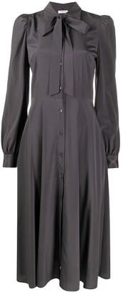 P.A.R.O.S.H. Tie Neck Silk Dress