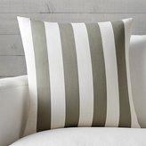 """Crate & Barrel Olin Taupe-Ivory Striped 20"""" Pillow"""