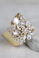 LuLu*s Dreamt of This Silver Rhinestone Cuff Bracelet