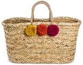 Merona Women's Large Straw Tote Handbag