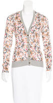 Tory Burch Floral Print V-Neck Cardigan w/ Tags