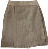 Banana Republic Grey Cotton Skirt for Women