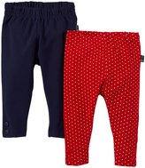 Jo-Jo JoJo Maman Bebe 2 Pack Essential Leggings (Baby) - Red/White Dot-12-18 Months