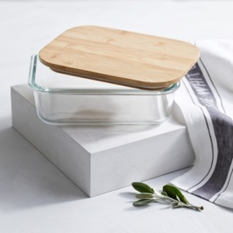 The White Company Glass Large Storage Box, Clear, One Size