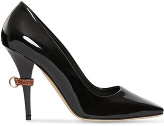 Burberry D-ring Detail Patent Leather Square-toe Pumps