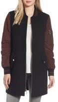 BCBGeneration Women's Long Varsity Jacket