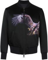 Neil Barrett eagle patch bomber jacket