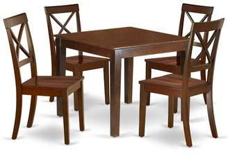 Winston Porter Thorfinn 5 Piece Solid Wood Dining Set Winston Porter