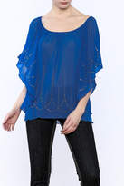 Cowgirl Tuff Blue Studded Blouse