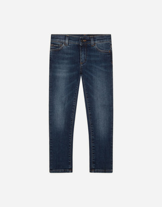 Dolce & Gabbana Dark Blue Slim-Fit Stretch Jeans