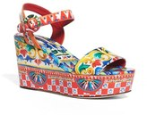 Dolce & Gabbana Women's Carretto Platform Wedge Sandal