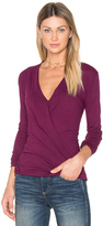 Bobi Light Weight Jersey Cross Front Top