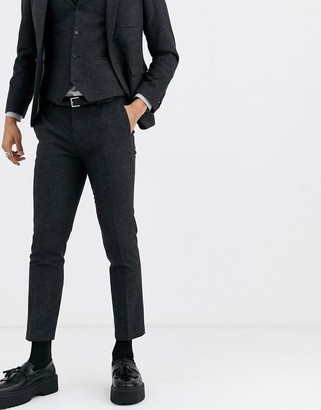 Twisted Tailor super skinny tapered suit pants in dark gray