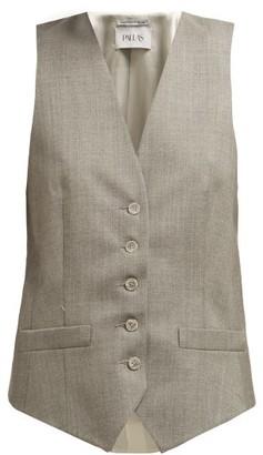Pallas Paris - Elliot Wool-twill Waistcoat - Grey