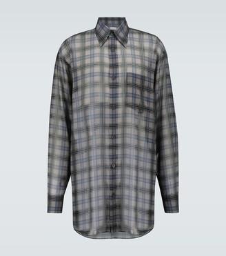 Dries Van Noten Long-length checked shirt