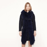 Maje Long coat with curly fur
