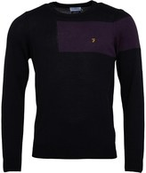 Farah Mens Byton Wool Crew Sweater Black