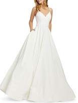 Mac Duggal Sweetheart Ball Gown with Pockets