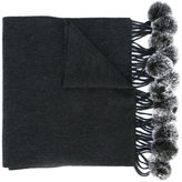 N.Peal fur bobble woven scarf - women - Rabbit Fur/Cashmere - One Size