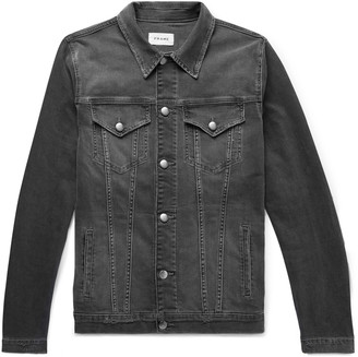 Frame L'Homme Distressed Stretch-Denim Jacket - Men